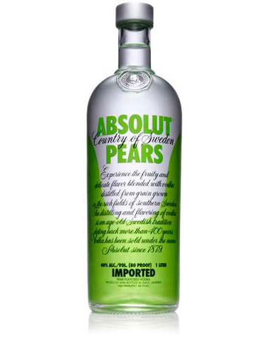 Vodka Pears Absolut Lt 1,000